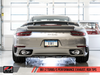 AWE Performance Exhaust and High-Flow Cat Sections for Porsche 991 Turbo - Chrome Silver RSR Tips