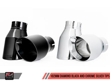 AWE Touring Edition Exhaust for Porsche 718 (17-19) Boxster / Cayman - Diamond Black Tips
