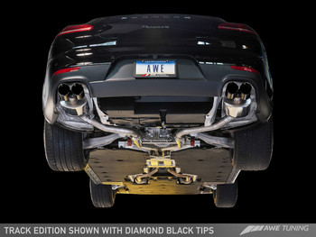 AWE Touring Edition Exhaust System for Porsche 970 (2014+) Panamera S/4S - Diamond Black Tips