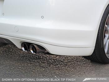 AWE Touring Edition Performance Exhaust System for 970 (10-16)Panamera Turbo - Diamond Black Tips