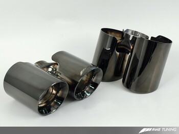 AWE Exhaust Tip Set for 996/997 (02-08) Carrera / S 911 - Diamond Black