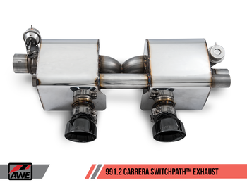 AWE SwitchPath™ Exhaust for 991.2 Carrera / S / GTS with PSE - Diamond Black Tips