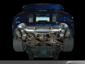 AWE Performance Exhaust with 200 cell cats for Porsche 996 (01-05) Turbo / GT2