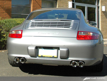 AWE Performance Muffler Set for Porsche 996/997 (02-08) Carrera / S (for PSE tips)