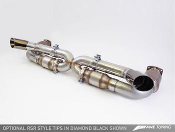 AWE Performance Exhaust for Porsche 997.2 (10-12) Turbo / S - Diamond Black Quad Tips
