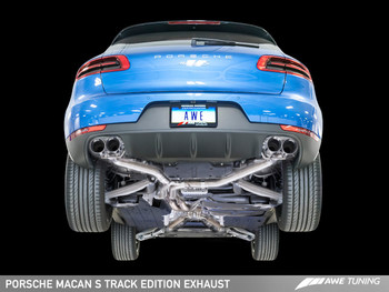 AWE Track Edition Exhaust System for Porsche Macan S / GTS / Turbo - Chrome Silver 102mm Tips