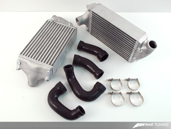 AWE Performance Intercoolers for Porsche 997 (07-10) Turbo / GT2 - Black Hoses