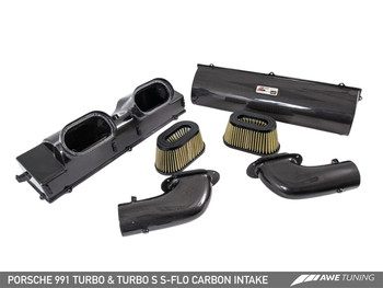 AWE S-FLO Carbon Intake for Porsche 991 Turbo and Turbo S