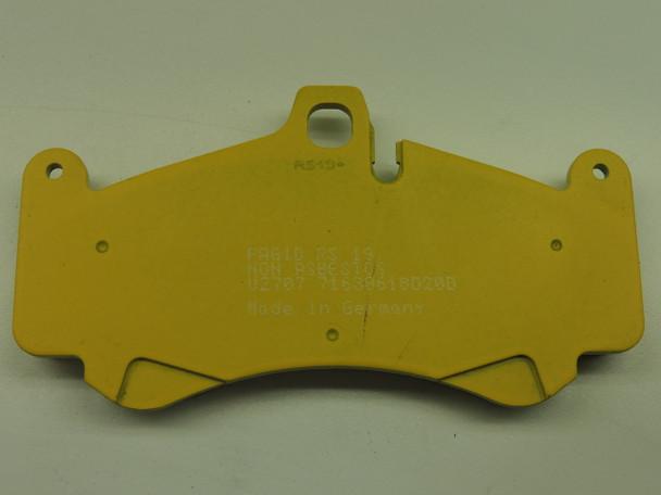 PAGID RS RACING BRAKE PADS YELLOW E-2707-19