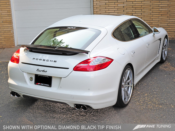 AWE Track Edition Performance Exhaust System for 970 (10-16) Panamera Turbo - Diamond Black Tips