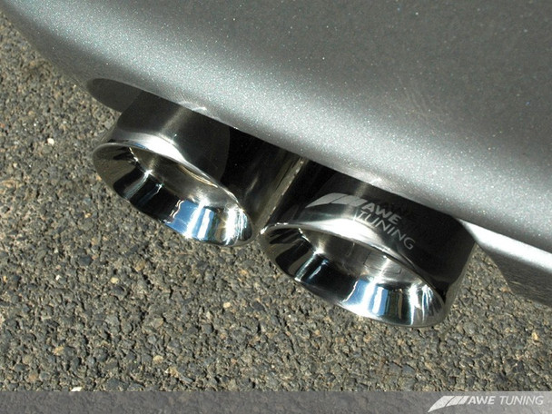 AWE Exhaust  Tip Set for 996/997 (02-08) Carrera / S 911 - Polished Silver
