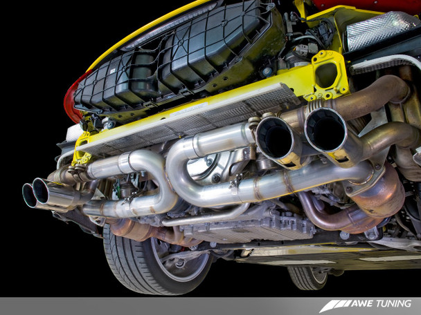 AWE SwitchPath™ Exhaust for Porsche 991 (12-16) - Non-PSE cars - Chrome Silver Tips