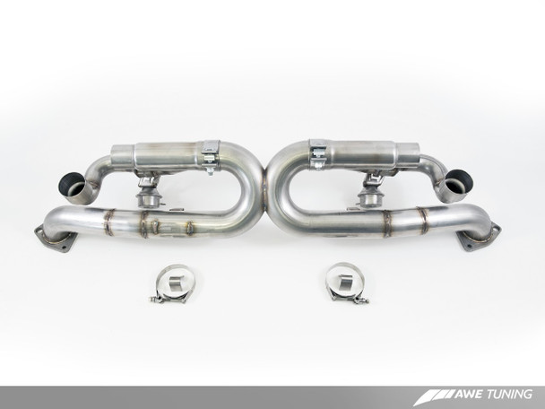 AWE SwitchPath™ Exhaust for Porsche 991 (12-16) - PSE cars - Chrome Silver Tips