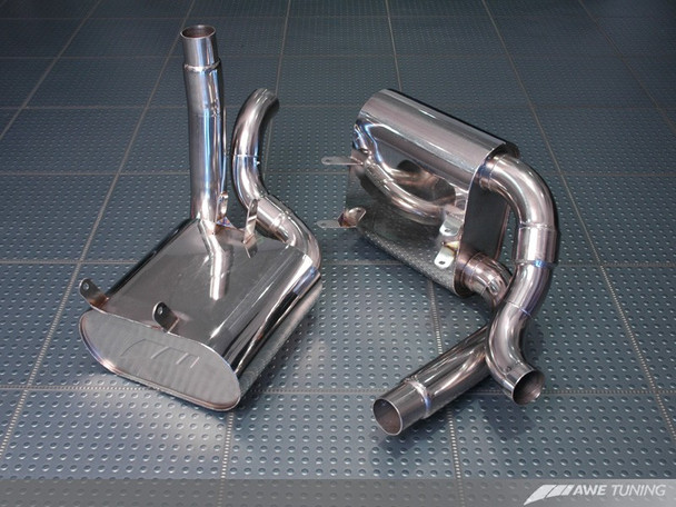 AWE Performance Muffler Set for Porsche 996/997 (02-08) Carrera / S (for use with OEM tips or AWE tips)