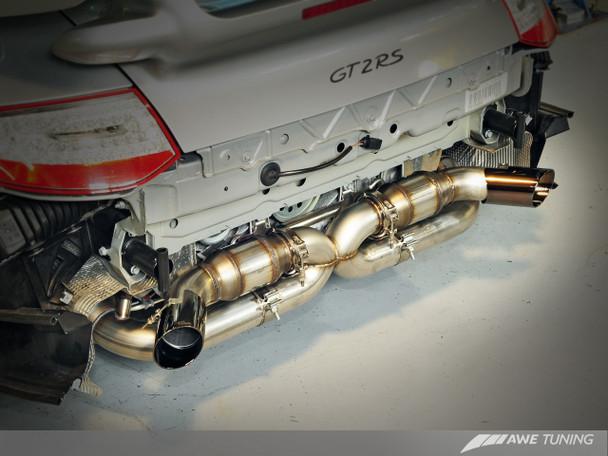 AWE Performance Exhaust Porsche GT2 RS - Diamond Black Tips