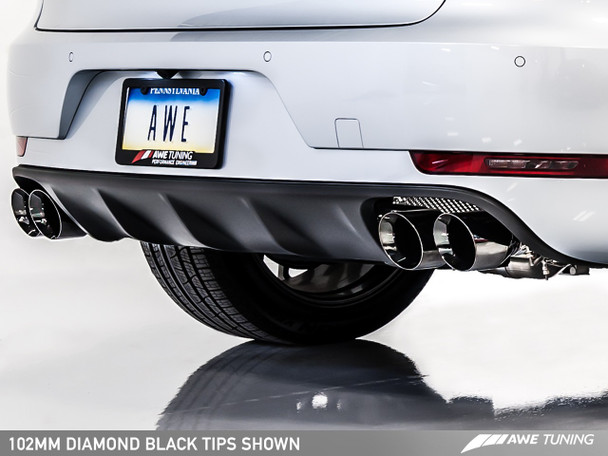 AWE Track Edition Exhaust System for Porsche Macan S / GTS / Turbo - Diamond Black 102mm Tips