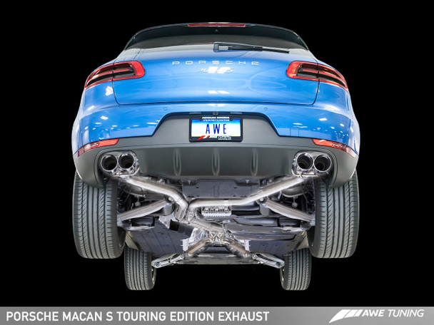 AWE Touring Edition Exhaust System for Porsche Macan S / GTS / Turbo - Diamond Black 102mm Tips