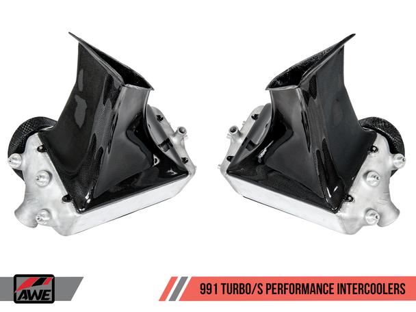 AWE Performance Intercooler Kit for Porsche 991 (14-19) Turbo / S