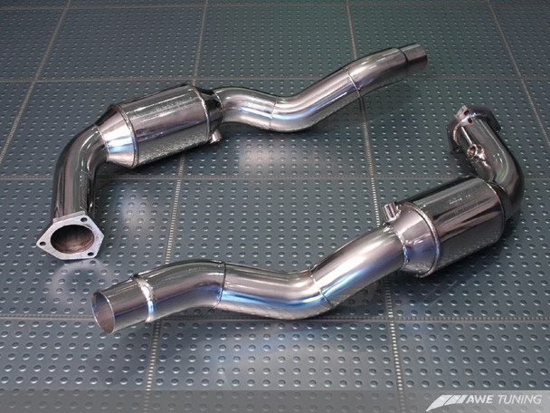 AWE Performance Hi-Flow Cat Sections for Porsche 996/997 (02-08) Carrera / S