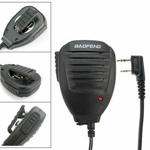 Original Baofeng PTT Speaker Mic for UV-5R Series/BF-F8+/BF-888S/BF-888S Plus Walkie Talkie