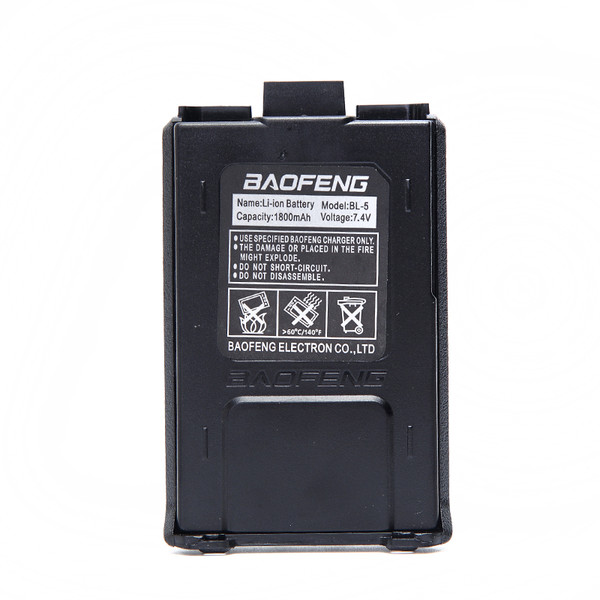Genuine BaoFeng Li-ion Battery 1800mAh for UV-5R BF-F8+ Series Two Way Radio