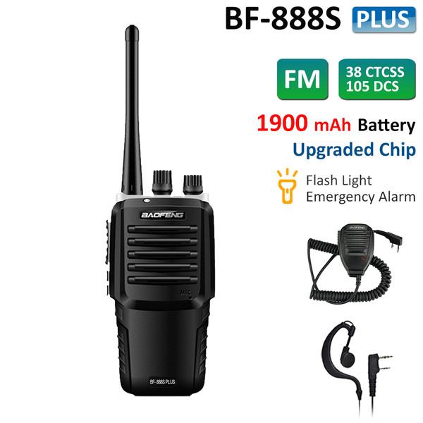 BF-888S Plus Walkie Talkie Long Range UHF Two Way Radio 5W + Speaker Mic
