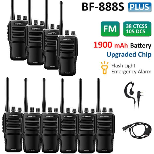 10x Baofeng BF-888S Plus UHF 400-470 Two Way Ham Radio FM Walkie Talkies 5W + Free USB Cable