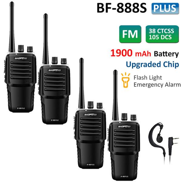 4x BAOFENG BF-888S Plus Walkie Talkies UHF 400-470MHZ Two Way Radio VOX Scanner