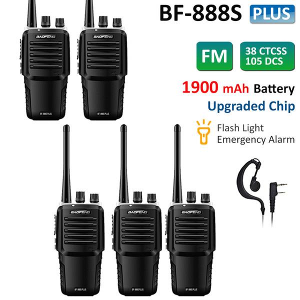 5x BAOFENG BF-888S Plus FM Two Way Ham Radio UHF 400-470MHz Walkie Talkie 16CH