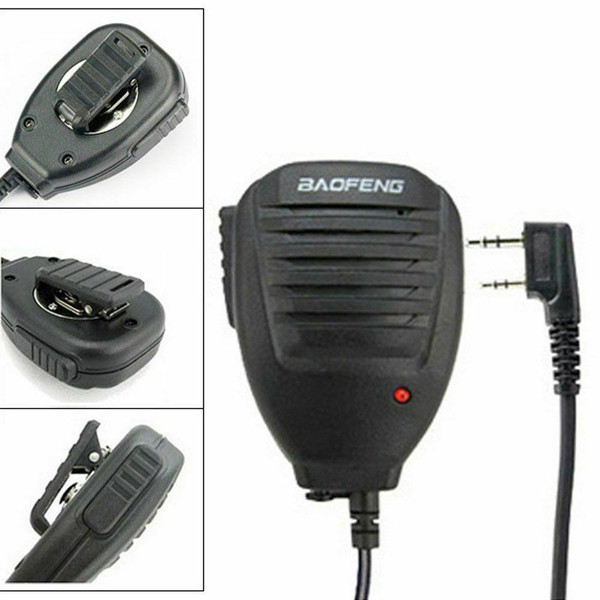 Original Baofeng PTT Speaker Mic for UV-5R Series/BF-F8+/BF-888S/BF-888S Plus Walkie Talkie