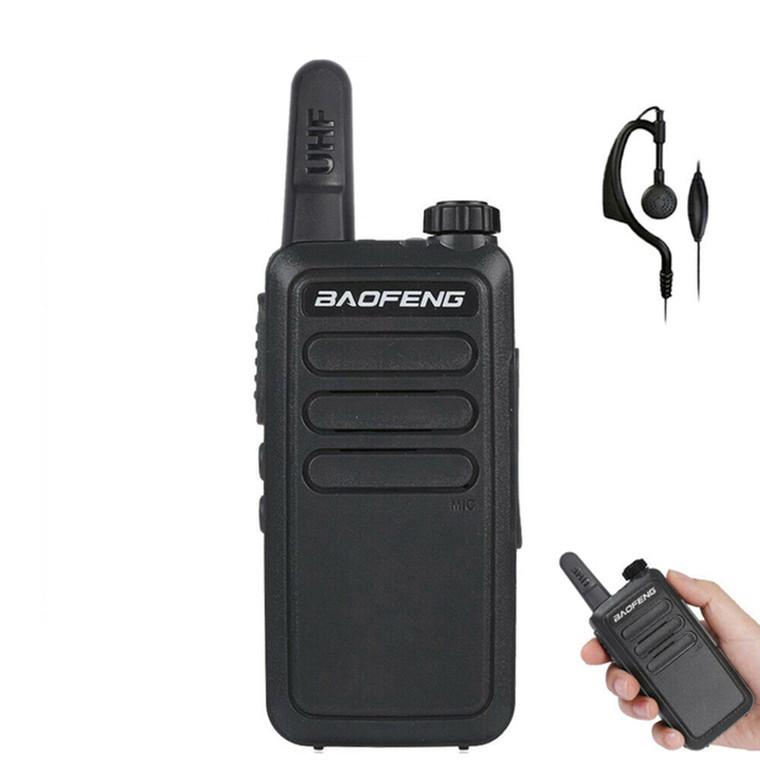 Baofeng Mini BF-R5 UHF 400-470MHz Walkie Talkie Two Way Radio + Headset