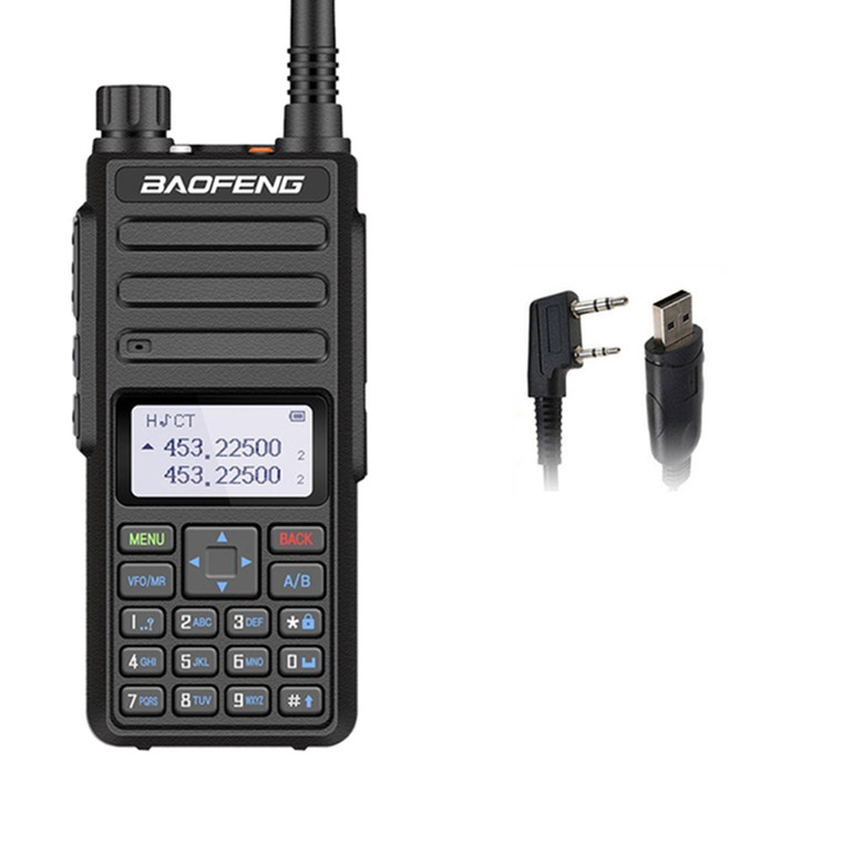 Baofeng BF-H6 10W High Power UHF/VHF Walkie Talkie Long Range Two Way Radio + Programming Cable