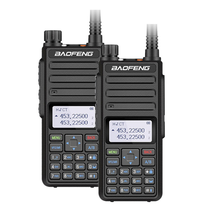 2x Baofeng BF-H6 UHF/VHF 10W Walkie Talkies Long Range Transceiver Two Way Ham Radio