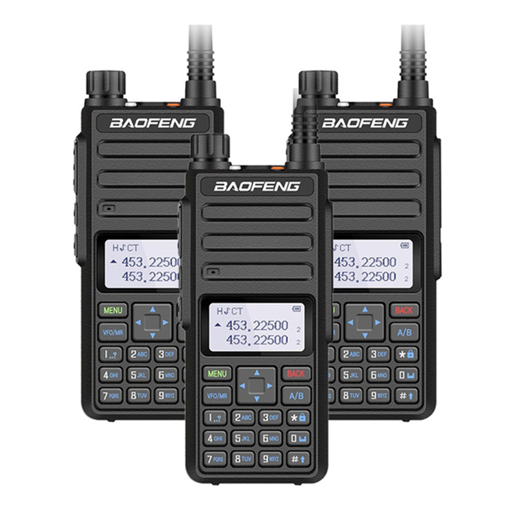 3x Baofeng BF-H6 UHF/VHF Dual Band 10W Walkie Talkies Long Range Two Way Radio Transceiver