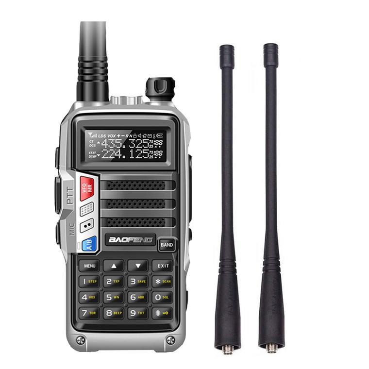Baofeng UV-S9 Tri-Band UHF VHF 136-174/220-260/400-520MHz Walkie Talkie 8W Ham Radio
