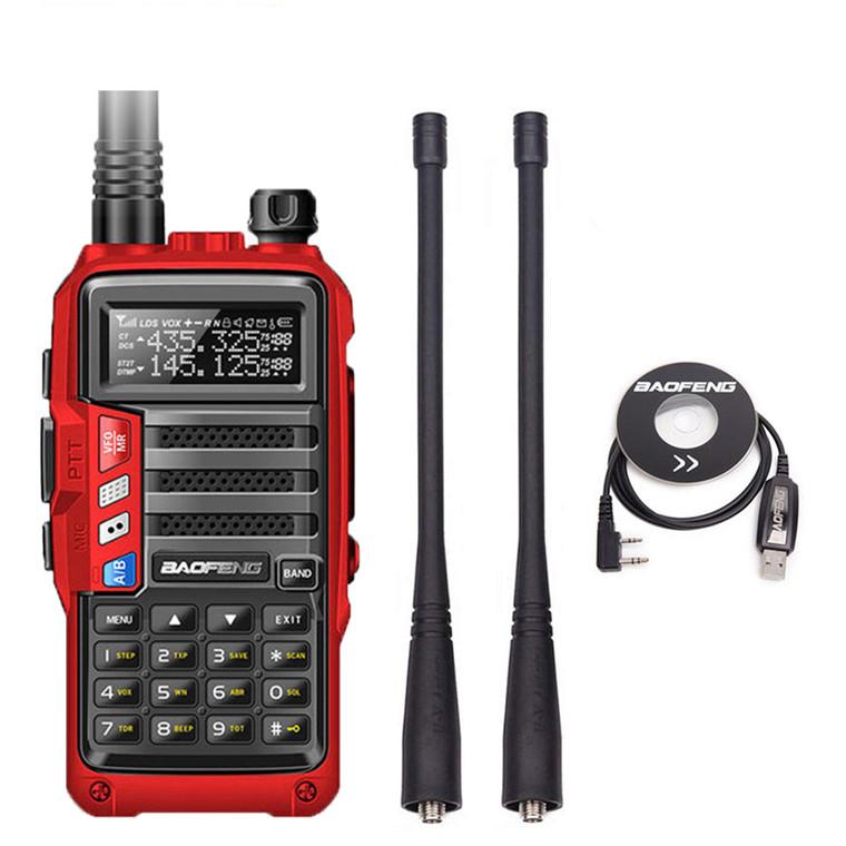 Baofeng UV-S9 Tri-band VHF/UHF 8W Walkie Talkie Two Way Radio + Programming Cable