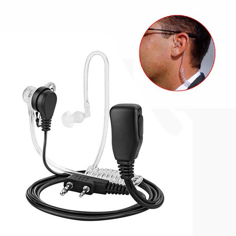 Security Earpiece Headset Mic for Kenwood Baofeng 2 Pin Radio Walkie Talkie UK