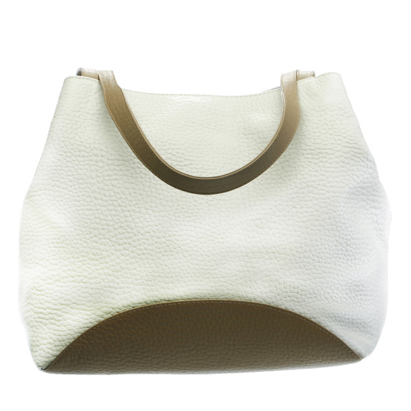 CAROLA. LEATHER TOP HANDLE TOTE