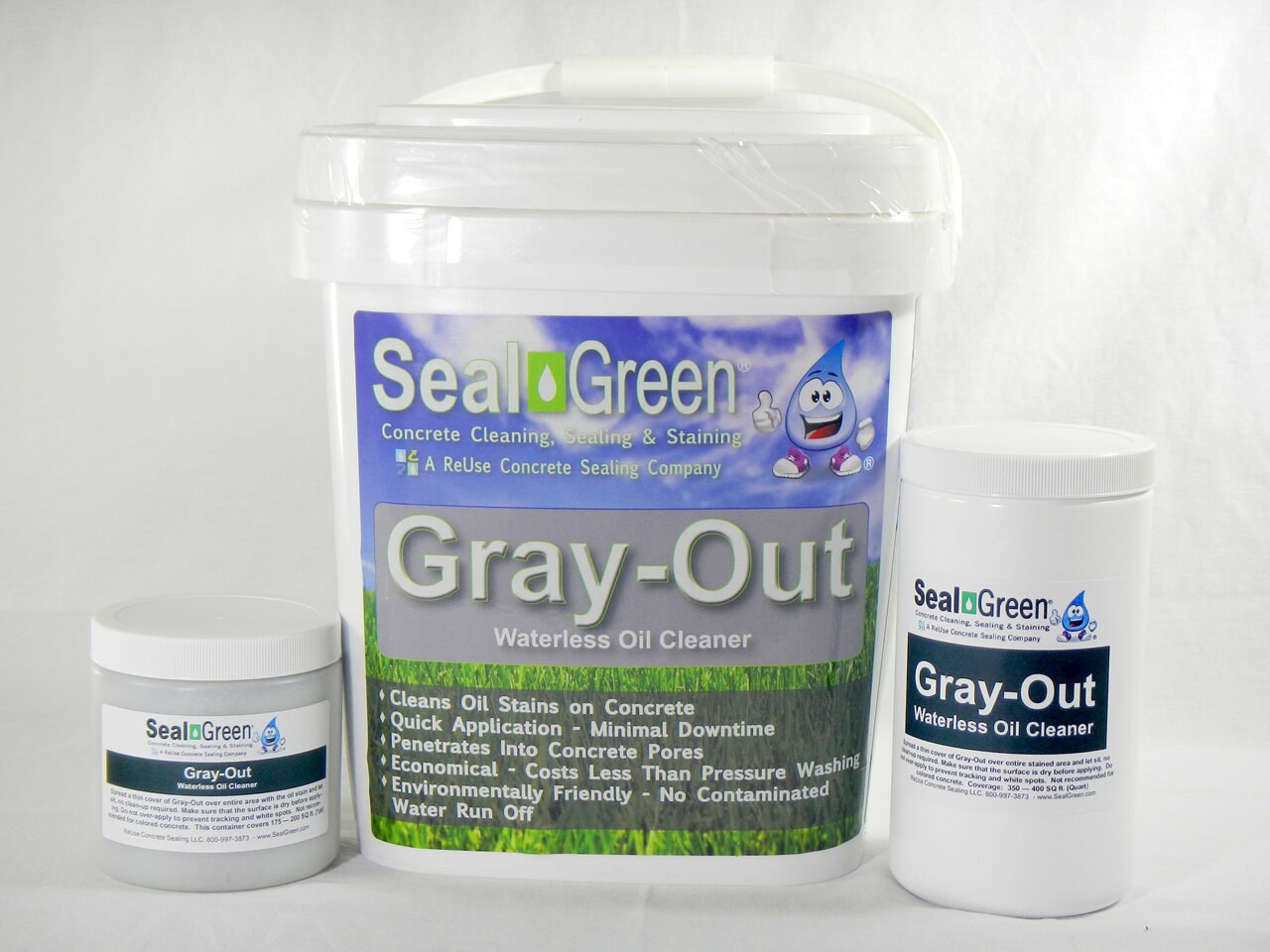 Gray-Out Waterless Oil Remover