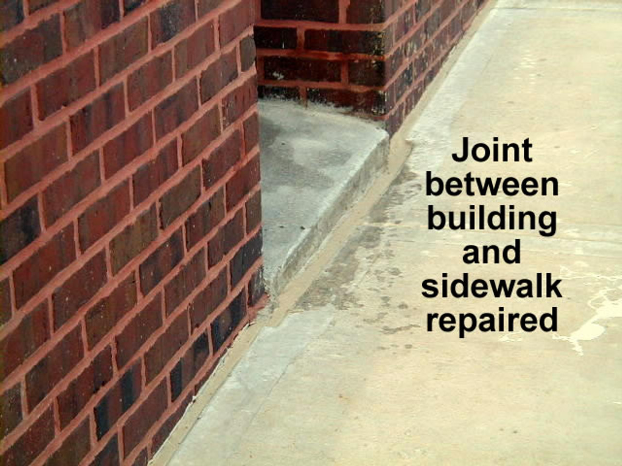 Sealed Expansion joint with 45 SSL Caulk and finish sand