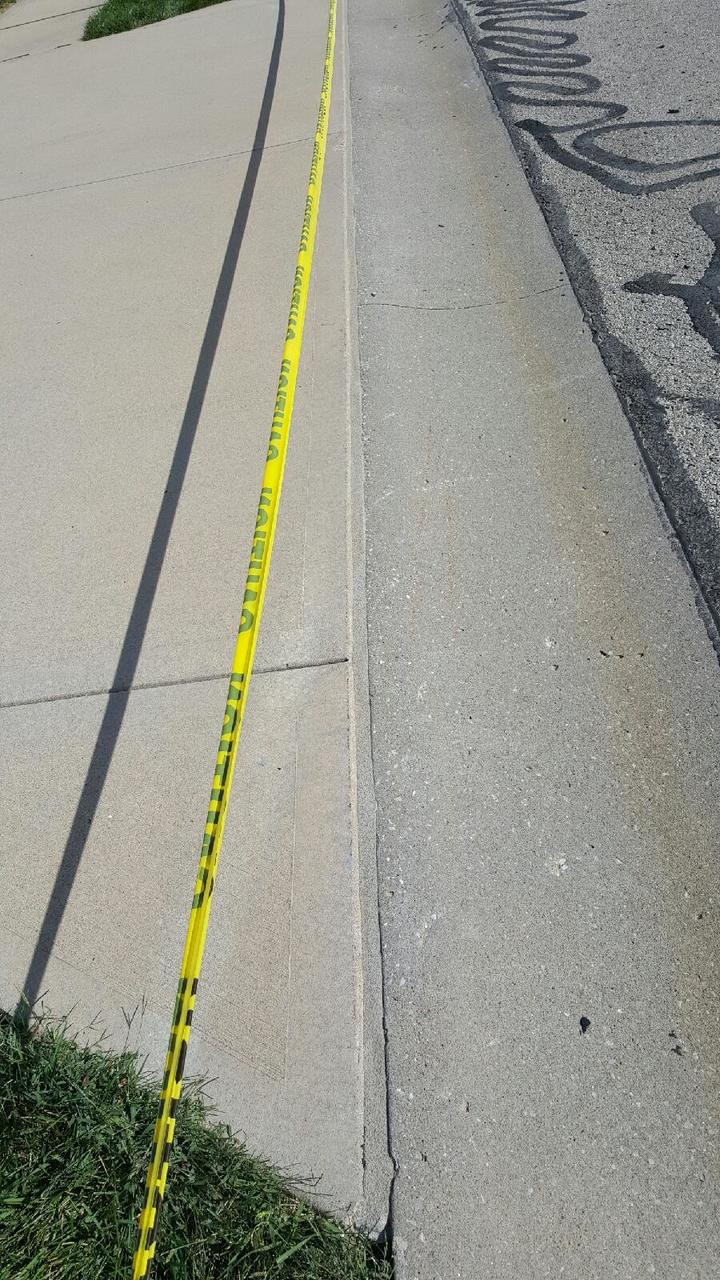 Driveway Expansion Joint repaired