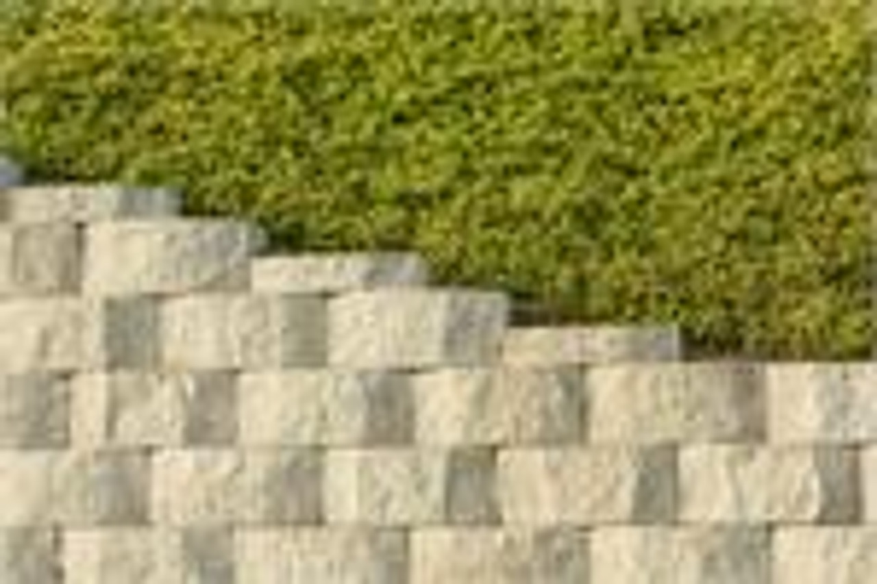 SealGreen Brick and Stone Sealer protects Split Face Blocks