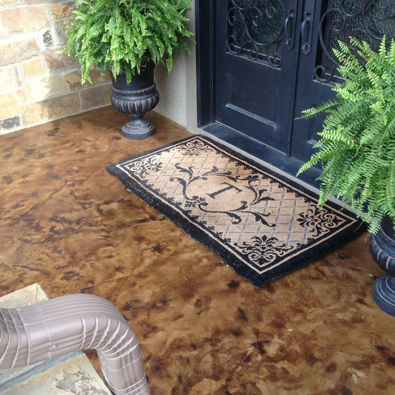 E15 Epoxy Stamped Concrete Sealer restores the wet look