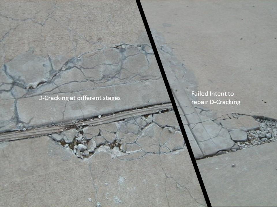D-Cracking Concrete Problem on a Concrete Driveway