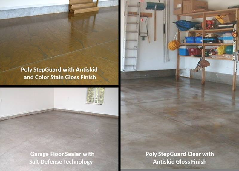 I want to seal my garage floor. What options do I have?