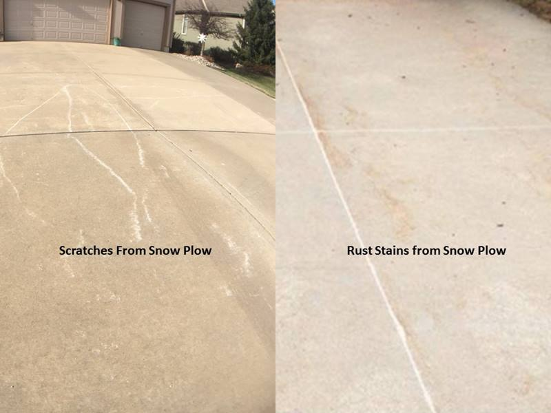 Q&A: Snowplow Scratched my Driveway - What Can I Do?