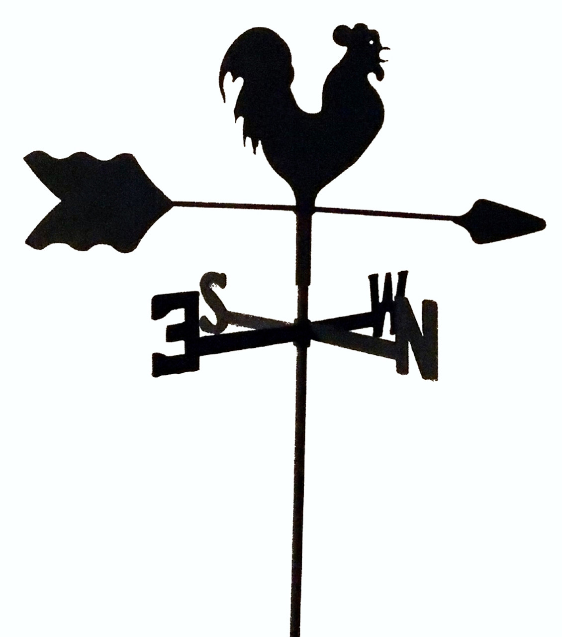 rottweiler weathervane black wrought iron look roof mount made in usa TLS1044RM