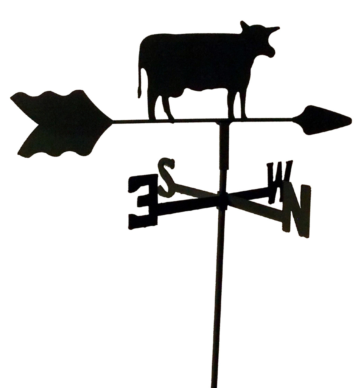 DEER  GARDEN STYLE WEATHERVANE BLACK WROUGHT IRON LOOK MADE IN USA TLS1012IN