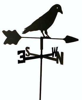 TLS1048IN Black Crow Garden Style inground Weathervane