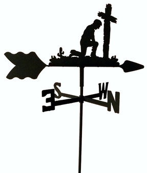 TLS1033IN Praying Man Garden Style inground Weathervane
